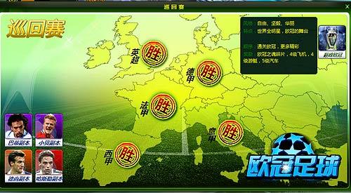 欧冠足球地图